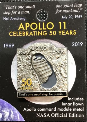 NASA Celebrating Apollo One Small Step Lapel Pin #5